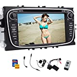 Lowest Price! Black In Dash GPS Car Stereo for Ford Focus Mondeo S-max Galaxy 7-inch digital Touch Screen car DVD CD video player Bluetooth built-in SD USB radio AM FM RDS Sub aux +Free Canbus