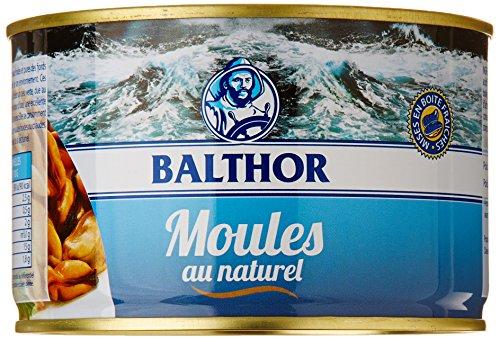 Balthor Moules au naturel 415 g - Lot de 4
