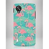 """april® Funda carcasa para LG Nexus 5, """"Caribbean Flamingo"""" diseño exclusivo de la colección """"Basics"""""""