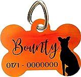 Cadouri Hundemarke KNOCHEN-Anhänger für's Halsband┊Motiv Hund ❤︎ personalisiert ❤︎ mit Name und TelefonNr. ┊38 x 25 mm