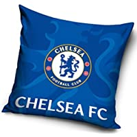 F.C. Chelsea Chelsea FC Football Club - Funda de cojín (40 x 40 cm, 100% algodón), algodón, Cfc-3p, 40 x 40 cm