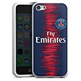 DeinDesign Apple iPhone 5c Coque en Silicone Étui Silicone Coque Souple Paris Saint Germain Produit sous Licence Officielle Maillot PSG