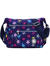 Misofe Purses And Shoulder Handbags For Women Crossbody Bag Messenger Bags (Blue Mushrooms)