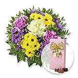 Blumenstrauß Bolero und Belgische Pralinen-Auslese