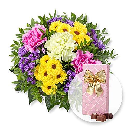 Blumenstrauß Bolero und Belgische Pralinen-Auslese -