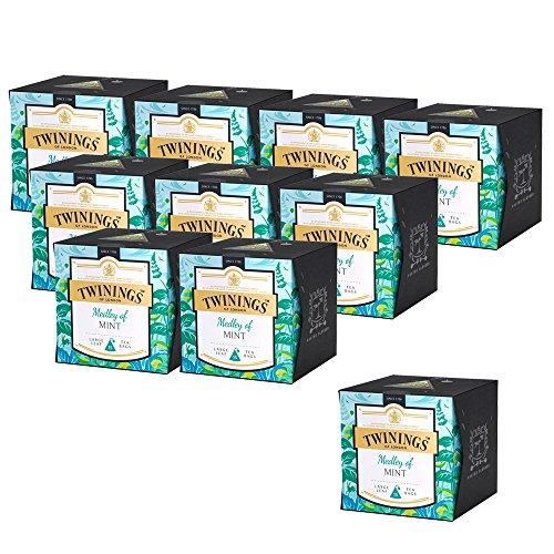 10er SET Twinings Medley of Mint 30 g (15 x 2 g im Beutel) / Schwarzer Tee / Minztee