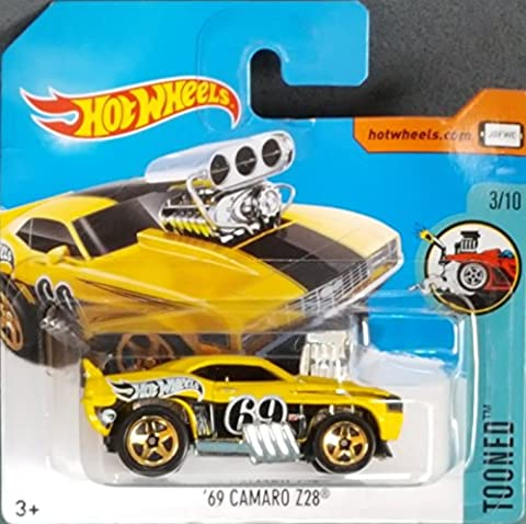 HOT WHEELS 2017 Tooned 69' Camaro Z28 Treasure Hunt Yellow