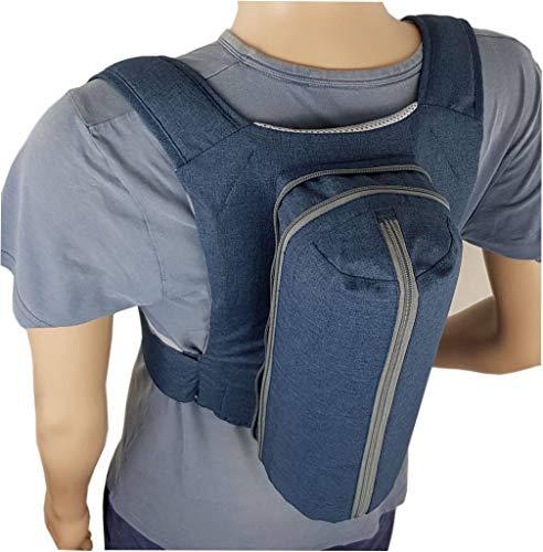 Schnarchrucksack, Schlafrucksack Woodyknows Kombination aus Anti Schnarch Rucksack Größe M-XXL und Ratgeber zur Rückenlageverhinderung bei Schlafapnoe