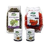 nutristyle Bio Protein Nudeln, 250g, Grüne Erbse und Rote Linsen, Bio-Qualität aus Deutschland, Vegan, als Schlemmerpaket mit Formaggio Pesto verde und Formaggio Pesto rosso