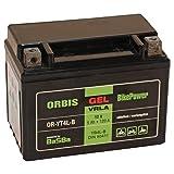 Orbis Gel12-4L-B Motorradbatterie - YB4L-B 12 Volt 5 Ah 120 A