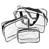 Starcrafter Transparent Kosmetik Reiseset 3-teilig + 1PCS Starcrafter Geschenk