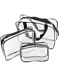 Starcrafter 3PCS Bolso cosmético transparente del recorrido conjunto