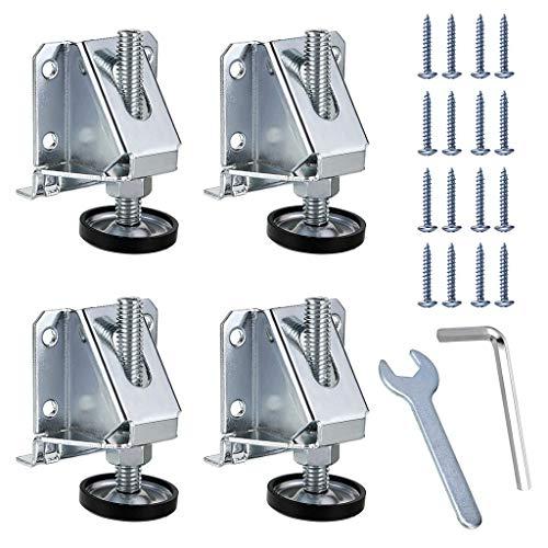 Sumnacon Schwerlast-Möbel-Nivellierfüße 4 Stück M10 für Tische, Regale, Schränke, Werkbank mit Sicherungsmuttern