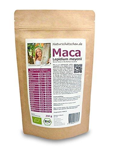 Bio Maca Pulver (Macapulver) in geprüfter Bio-Qualität (DE-ÖKO-22) (250g)