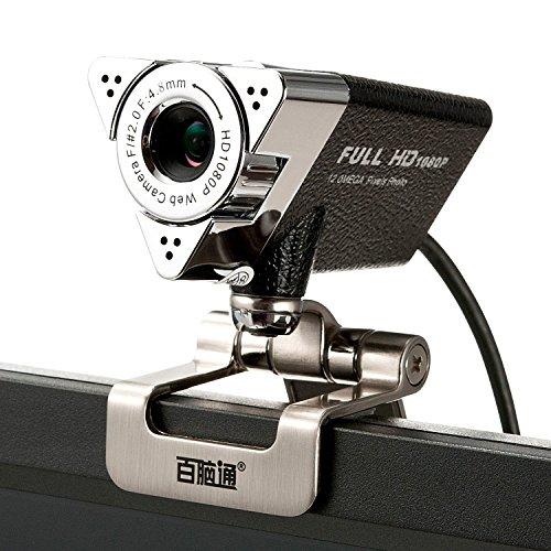 Lysport 1080P Full HD Webcam USB Web Kamera PC Webcam Netzwerkkamera Computer Kamera mit eingebautem Mikrofon für PC ,YouTube, Skype und Internet Chat Laptop Mit Eingebauter Kamera