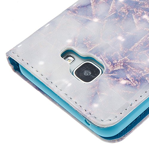 Marmor Stein Grain Texure Pattern PU Ledertasche Cover, Retro Bookstyle Flip Stand Case mit Magnetverschluss & Card Slots & Lanyard für Samsung Galaxy A510 (A5 2016) ( Color : F ) C
