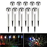 Set mit solarbetriebenen Gartenleuchten, Diamantform, stahl, multi, Solar Path Lights-Colorful 0.50watts