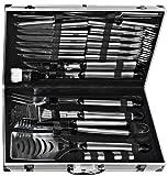 El Fuego AY0333 - Set utensili per barbecue con valigetta in alluminio, 24 pezzi immagine