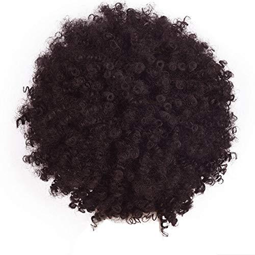 DOGZI Perücke Synthetik Perücke Hitzeresistente Perücken, Hort Afro Curly Mix Haar Perücke Mit Pony Synthetische Ankunft Günstige ()