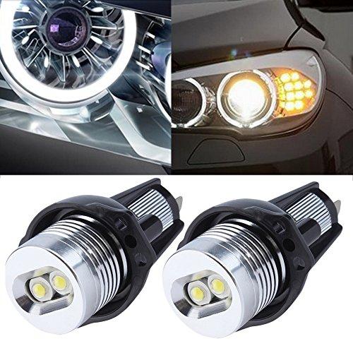 Preisvergleich Produktbild EX1 Auto Ultra Helle LED Licht Engel Augen 6W für BMW 3 Series E90 E91 (Weiß)