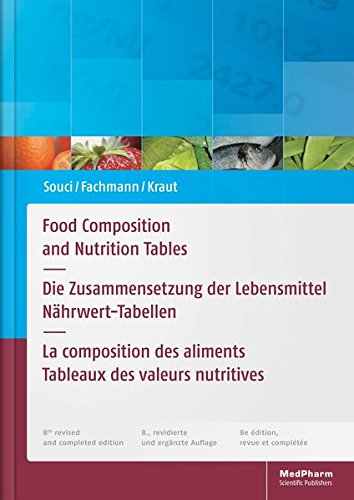 H Tabelle (Food Composition and Nutrition Tables: Die Zusammensetzung der Lebensmittel - Nährwert-Tabellen La composition des aliments - Tableaux des valeurs nutritives)