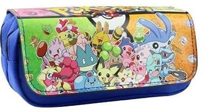 Estuche para lápices de Pokemon azul para niños Craze UK con dos compartimentos por KTRADING