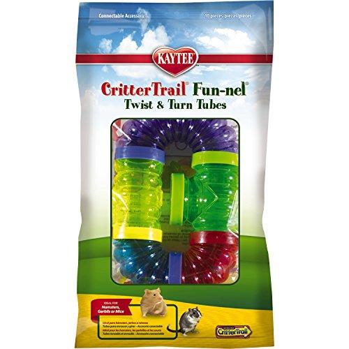 Kaytee CritterTrail Fun-nel anschließbarer bunter Kunststoffschlauch 10 Stück -