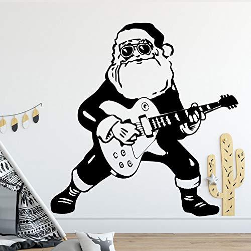 Guitar Boy Design Wandaufkleber Für Kinder Schlafzimmer Dekoration Zubehör Wasserdicht Vinyl Wandtattoos selbstklebende Tapete 86 cm X 88 cm (Und Schwarze Halloween-nägel Orange)