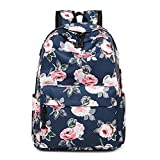 Wasserdicht Laptop Rucksack Mädchen Drucken Schulrucksack Jugendliche Schultaschen Daypacks für Universität Outdoor Freizeit PeonyRoyalBlue OneSize