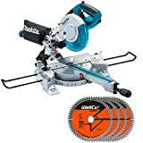 Makita LS0815FL Sliding Compound Mitre Saw 216mm 110V with 60T Extreme Blade 4Pcs