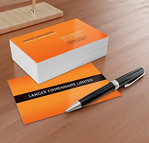 Business Visitenkarten - Online gestalten! Despri Design VK022, Orange, 250 Stück, glänzend