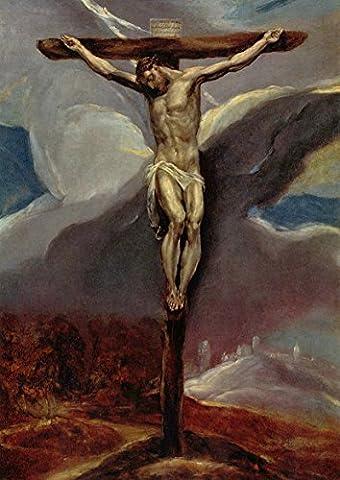 El Greco: Christ on the Cross. Fine Art Print/Poster. Size A2 (59.4cm x 42cm)