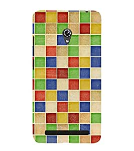 MULTICOLOURED CHECK PATTERN 3D Hard Polycarbonate Designer Back Case Cover for Asus Zenfone 5 A501CG :: Asus Zenfone 5 A500CG