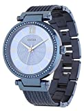 Guess Damen Analog Quarz Uhr mit Edelstahl Armband W0638L3