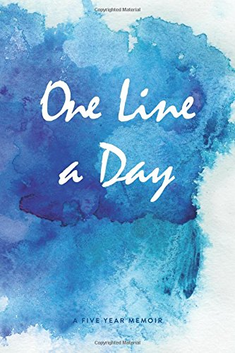 one-line-a-day-journal-a-five-year-memoir-6x9-lined-diary-watercolor