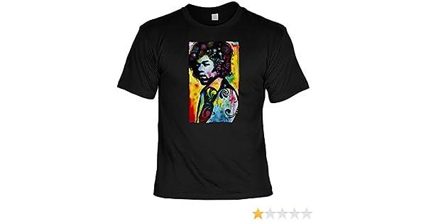 Neon Damen T-Shirt Motivshirt Geschenk Musik Gitarrist 60er Sixties Hendrix