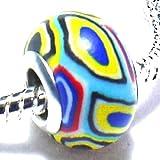Funky Acryl Fimo Charm Buddy Bead für Pandora Armbänder