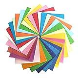 Wartoon 250 Pcs Origami Papier Faltpapier, 200 Blatt Doppelseitiges Origami Papier und 50 Blatt Einseitiges Glitzer Origami Papier für Origami und Bastelprojekte (15 x 15 cm)