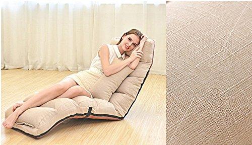 Sport&Sofa Entspannender Faltender Fauler Sofa-Stuhl-Stilvolle Sofa-Couch-Bett-Klubsessel mit...