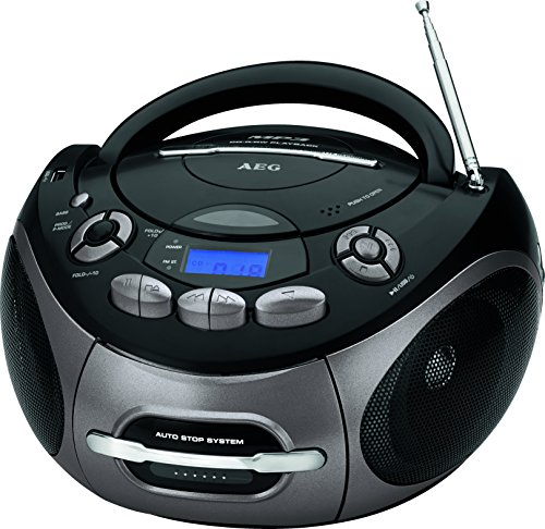 AEG SR 4366 Stereo-Kassetten-Radio mit CD/MP3/USB/AUX-IN, Toploading CD-Player -