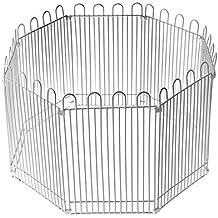 Yunt - Parque tipo valla de alambre de diseño plegable y desmontable para conejos, hámsteres