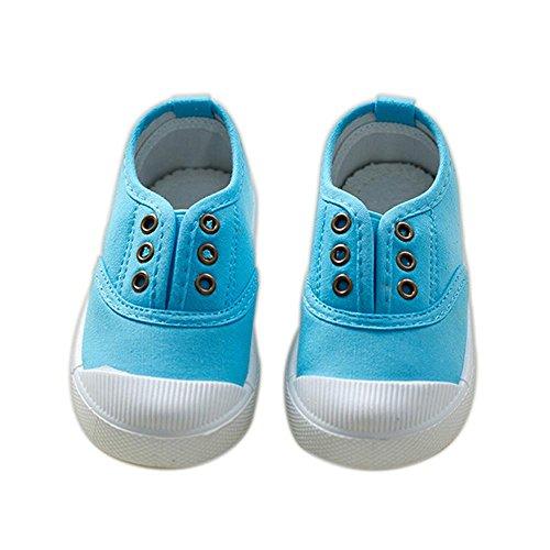 ALUK- Chaussures De Toile Pour Enfants Petits Chaussures Blanches Chaussures Bébé Étudiants Chaussures ( couleur : Bleu , taille : 22 ) Le ciel bleu