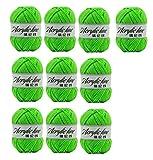 10x Demarkt Wolle Handstrickgarn Lauflänge pro Knäuel fluoreszierendes Grün Polyacryl