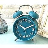 Stehen schwierige haushalte faul nacht laut lautsprecher metamorph wecker laut student stumm leuchtende alarm kreativ ( Color : Blue )