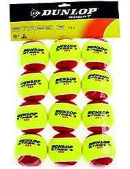 Dunlop Stage 3 Sachet de 12 balles Rouge/Jaune