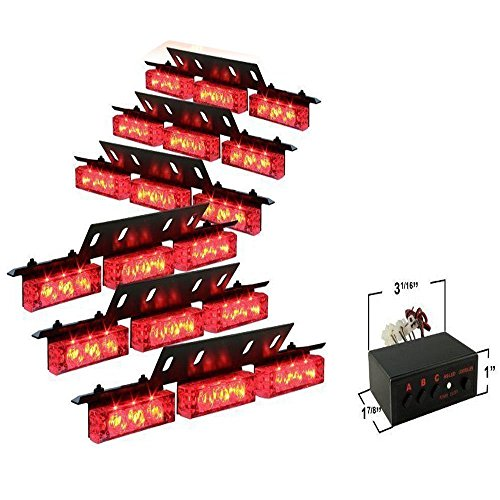 OLSR® 3 Blinkende Fahrzeuge Blinkleuchten Blinker Warnblinkleuchten, 12V Aluminiumlegierung High Power 6PCS 9LEDs, -Ideal für Auto KFZ Anhänger Caravan Wohnmobil (10 verschiedene Farben optional) (Rot)