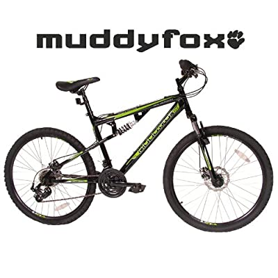 "Muddyfox 26"" Livewire Full Suspension Bike - Mens - Black and Green. (MO17171-BIKE)"