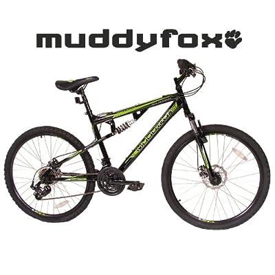 "Muddyfox 26"" Livewire Full Suspension Bike - Mens - Black and Green. (MO17171-BIKE)"
