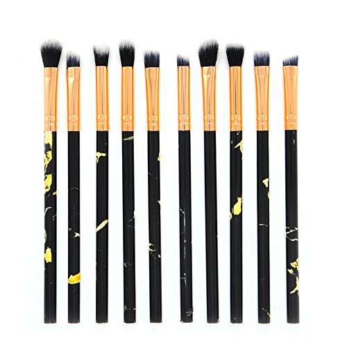 Makeup Brushes,Professionnelle Kits ,10 PièCes De Maquillage Pinceau Professionnel Visage Ombre à PaupièRes Eyeliner Foundation Blush Makeup Brushes Brush Beauté Maquillage