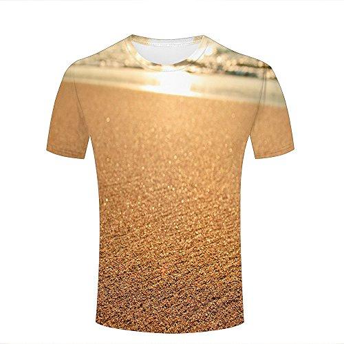 884df474e para Hombre Crewneck 3D Print T-Shirt Seaside Sunshine on Water Creative  Graphic Short Sleeve